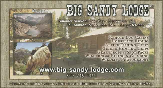 Visit us at Big Sandy Lodge, near the wildnerness boundary in the Wind River Mountains!