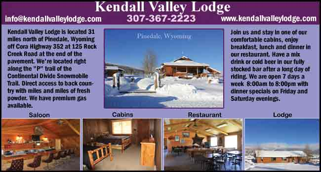 Kendall Valley Lodge snowmobiling