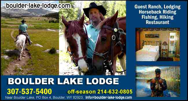 Visit us at Boulder Lake Lodge, Wyoming