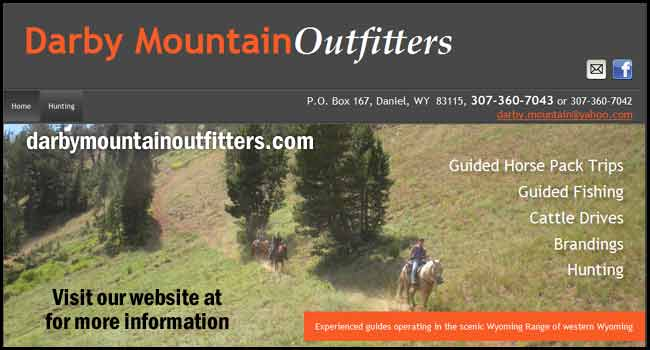 Darby Mountain Outfitters. Permitted Bridger-Teton National  Forest - Equal Opportunity  Service Provider.