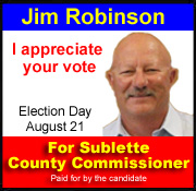 Vote for Jim Robinson Sublette County Commissioner