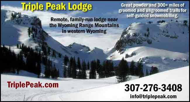 Triple Peak lodge snowmobiling