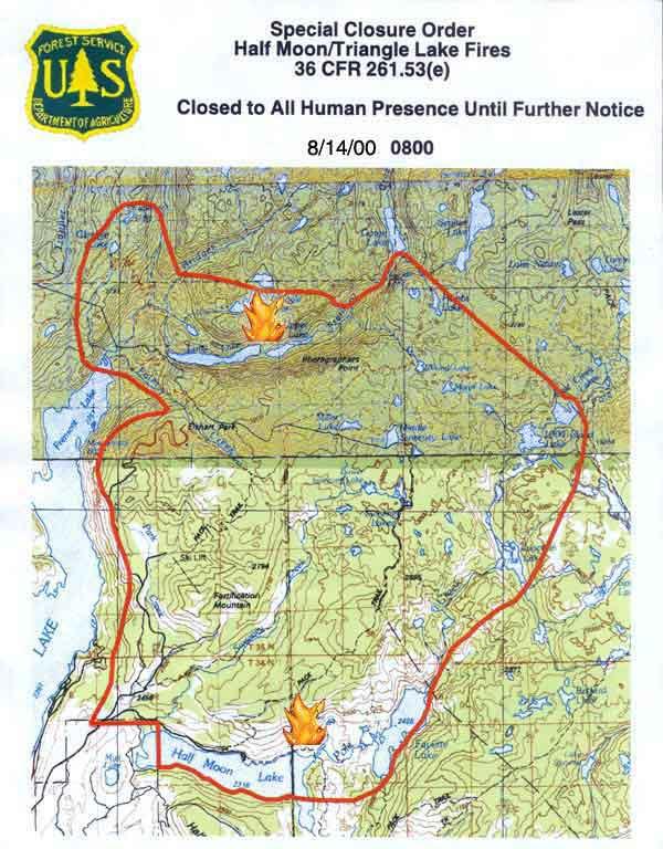 Closure Map Revised 8 14 00 At 8 Am