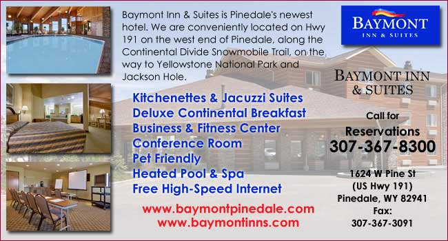 Baymont Inn & Suites in Pinedale, Wyoming welcomes you!