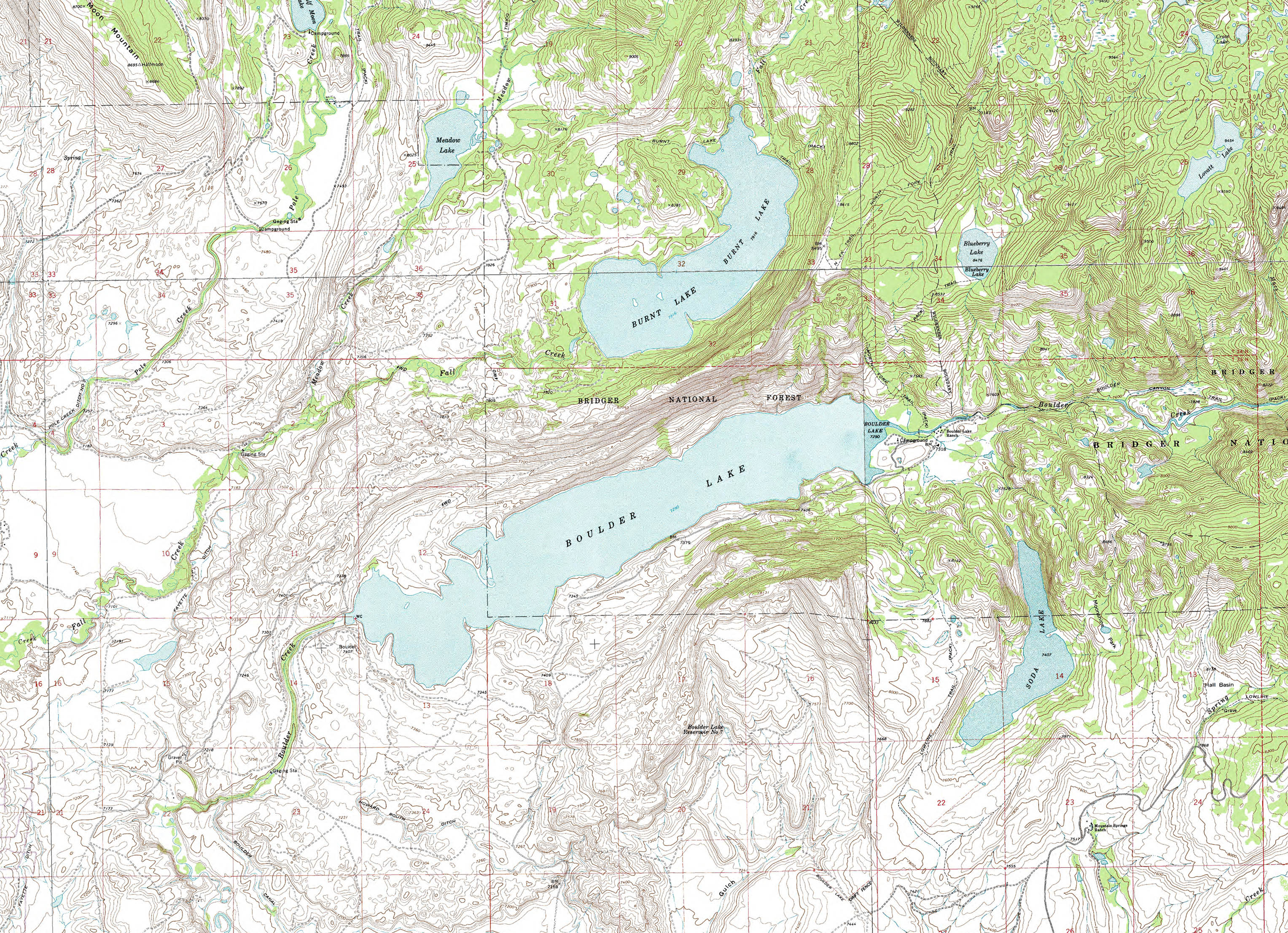Brochures and maps for pinedale and sublette county wyoming for Wyoming game and fish maps