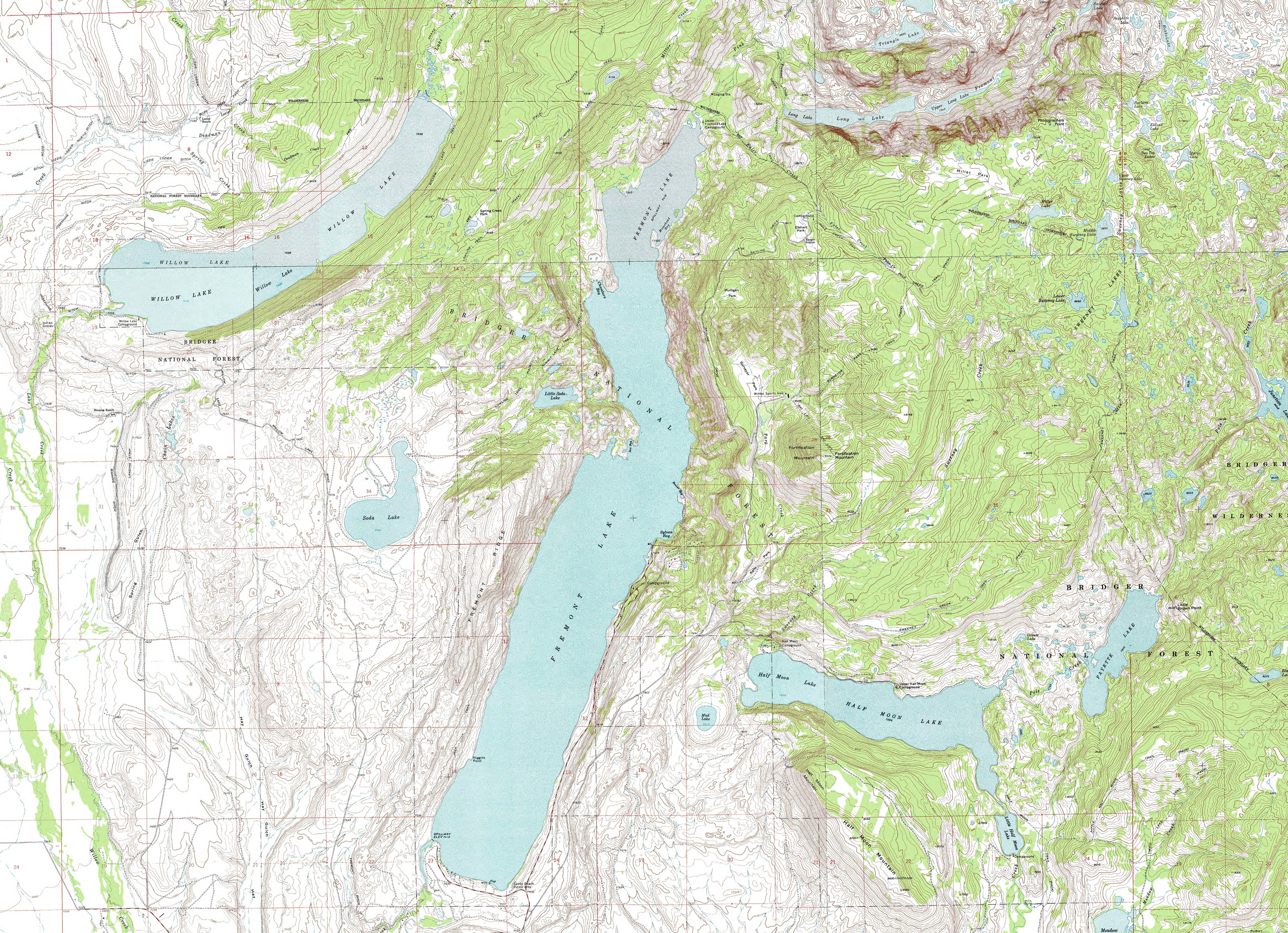 Brochures And Maps For Pinedale And Sublette County Wyoming - Topo maps us forest service