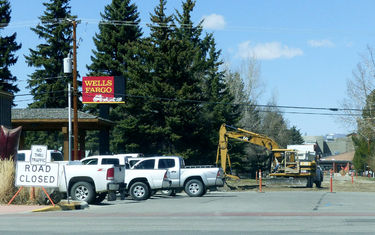 Water & Sewer Project work causes several road closures in Pinedale