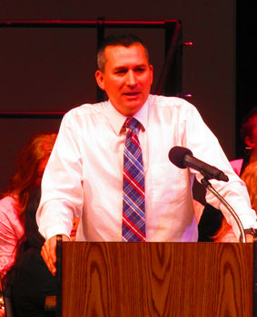 Phil Vrska, Keynote Speaker. Photo by Dawn Ballou, Pinedale Online!