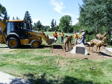 Pronghorn statues installed
