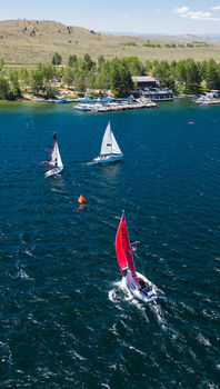 Sailing Regatta on Fremont Lake. Photo by Tony Vitolo.