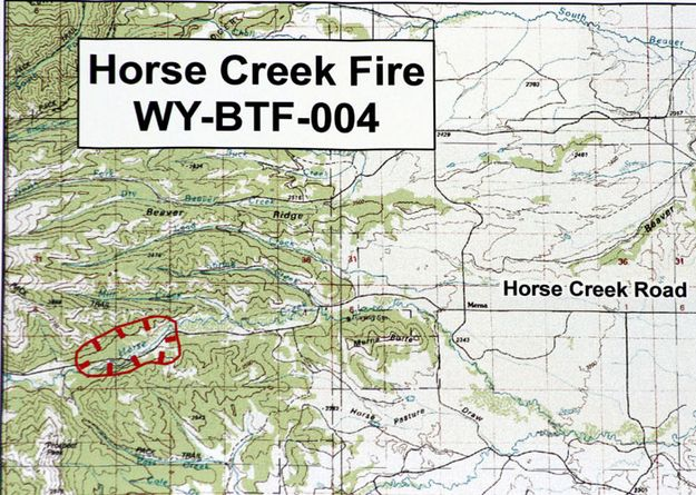Horse Creek Fire Map Pinedale Online News Wyoming