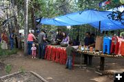 Food Line at Kiddie Village. Photo by Dawn Ballou, Pinedale Online.