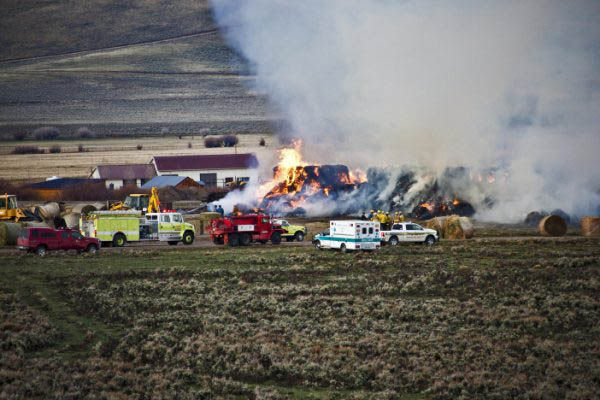 Stackyard fire - Pinedale Online News, Wyoming