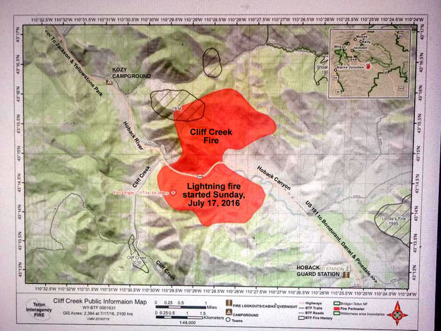 Fire Map Pinedale Online News Wyoming