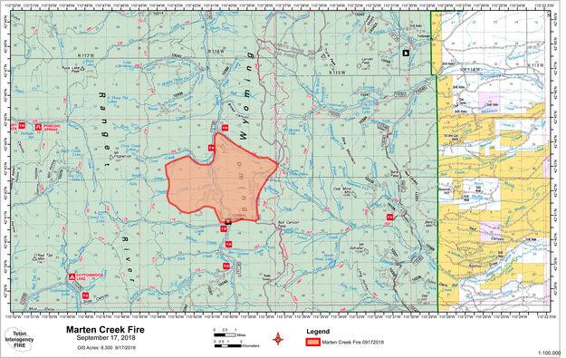 Marten Creek Fire Map Pinedale Online News Wyoming