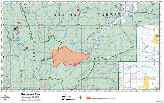 Roosevelt Fire map   Pinedale Online News, Wyoming