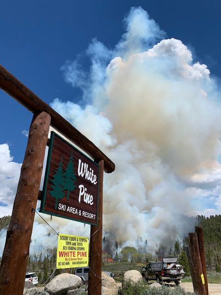 Smoke near White Pine - Pinedale Online News, Wyoming