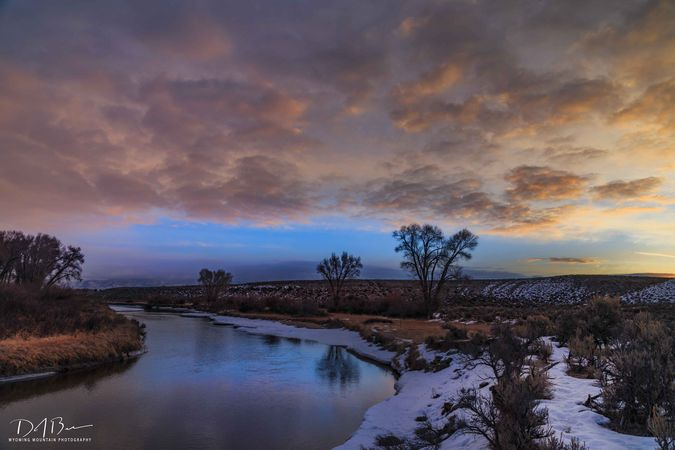 Sunrise On Boulder Creek. Photo by Dave Bell.