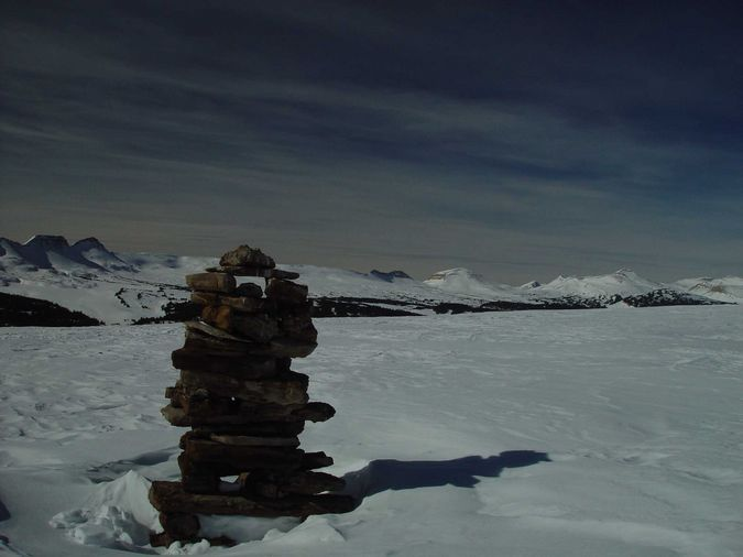 Rock Cairn on Elk Ridge. Photo by Dave Bell.