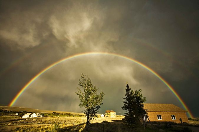 Full Double Rainbow. Photo by Dave Bell.