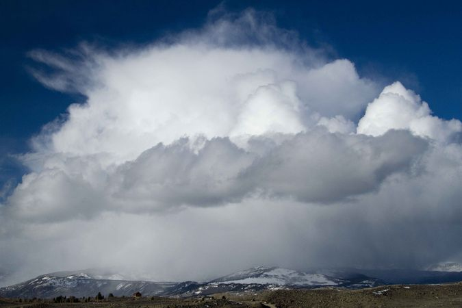 Giant Snowsquall Atop Wind River Range. Photo by Dave Bell.