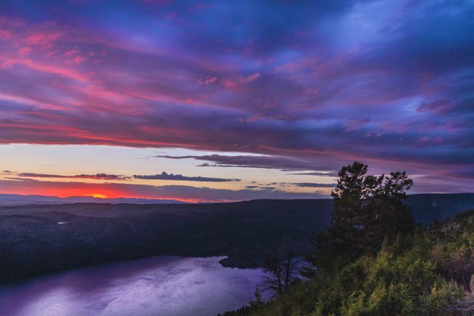 Lower Overlook Sunset. Photo by Dave Bell.