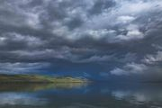 Calm Fremont Lake And Stormy Skies. Photo by Dave Bell.