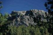 Harney Peak In Late Afternoon Sun From Trailhead. Photo by Dave Bell.