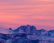 Mt. Bonneville Alpenglow. Photo by Dave Bell.