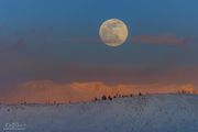 Moonrise Over Cold Continental Divide. Photo by Dave Bell.