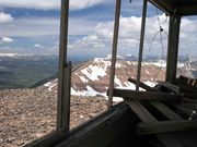 Mt. Coffin (el.11,242') and Shack. Photo by Dave Bell.
