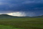 Approaching Thunderstorm Over Boroff Hay Meadow. Photo by Dave Bell.
