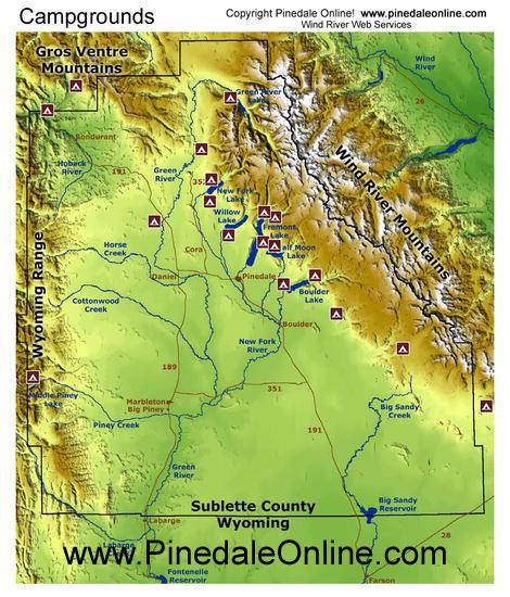 Bondurant Wyoming Map.Pinedale Wyoming Pinedale Online