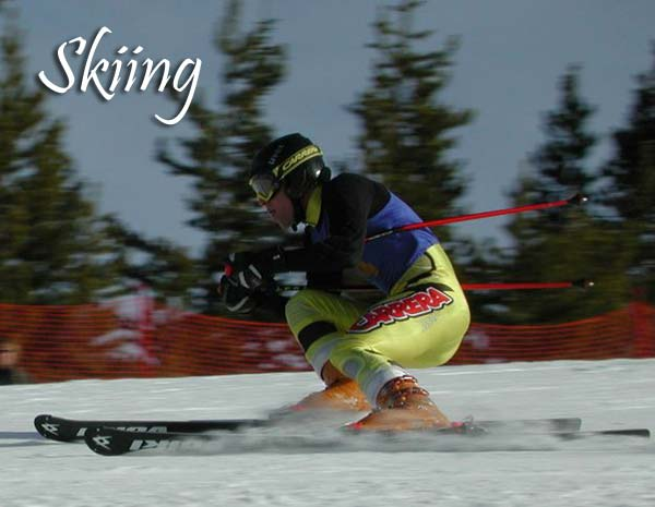 Alpine ski race at White Pine Ski Area. Pinedale Online photo.