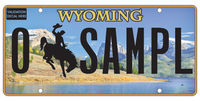 New 2017 Wyoming specialty plates will feature Green River Lakes and Squaretop Mountain. Photo courtesy WYDOT.
