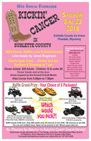 Kickin' Cancer June 23 at the Sublette County Ice Arena in Pinedale