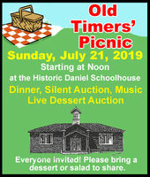 Old Timers' Picnic July 21 in Daniel