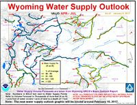 January 2017 Wyoming water outlook. NOAA graphic.