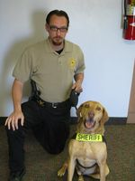 Max with Deputy Dan Ruby.