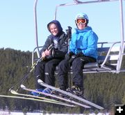 Riding the lifts at White Pine Ski Area.  Pinedale Online photo.