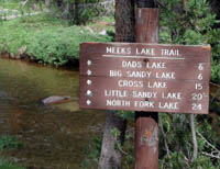 Big Sandy trailhead sign. Pinedale Online photo.
