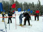 High School Nordic Skiing race at White Pine Ski Area. Photo by Pinedale Online.