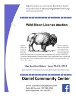 Wild Bison Hunt License opportunity will benefit the Daniel Community Center
