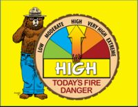 Fire danger is currently rated HIGH - no restrictions in place.