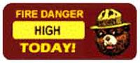 Fire Danger raised to HIGH