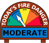 Fire danger reduced to Moderate