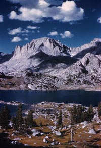 Fremont Peak and Island Lake. US Forest Service photo, Bridger-Teton National Forest.