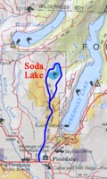 Map to Soda Lake
