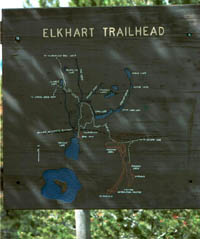 Elkhart Trialhead sign. Pinedale Online photo.