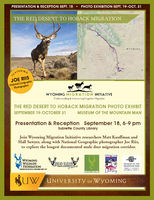 Photo exhibit at the Museum of the Mountain Man through October 31st. Reception and presentation on Sept. 18th at the Sublette County Library in Pinedale.